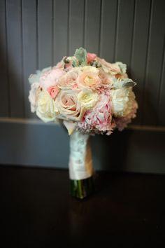Beautiful bridal bouquet by Bella Bloom Florals at Bella Via