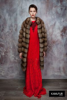 Fur coat sable