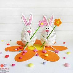 Easter Bunny Ornament Paper Mache Bunny Rabbit Ornaments #efthimiapapiermache #papiermache #papermache #artobject #papersculpture #paperdesign #papercreations #bunnydecor #eastergifts #bunnies #papier-mâché #madeingreece #etsyhandmade #cartapesta #egst #bunny #easterdecor #eastergiftideas #handmadeart #paperart