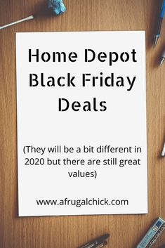 Home Depot Black Friday Deals will be a little different in 2020. Check them out here so you don't miss what you want!