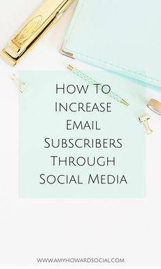 Amy Howard Social - Social Media Strategist for Women Entrepreneurs E-mail Marketing, Email Marketing Strategy, Content Marketing, Online Marketing, Social Media Marketing, Digital Marketing, Mailing List, Le Social, Entrepreneur