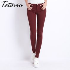 Buy it Now - Jeans Female Denim Pants Candy Color Womens Jeans Donna Stretch Bottoms Feminino Skinny Pants For Women Trousers 2017 Tataria Jeans Material, Lässigen Jeans, Denim Pants, Buy Jeans, Stretch Jeans, Skinny Jeans Style, Skinny Pants, Trousers Women, Skinny Jeans