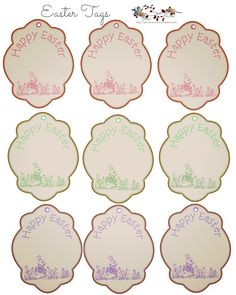Free easter printable vintage easter tags happy easter free free easter tags negle Choice Image