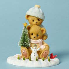 Cherished Teddies 4040470 Bears Playing Snow Bear Teddy Christmas Priscilla and Glen Hillman Teddys Animal Animals Collectibles Collectible Gift Gifts Christmas Figurines, Christmas Ornaments, Christmas Decorations, Biscuit, Boyds Bears, Teddy Bears, Barbie, Bear Art, Bear Cubs