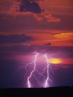 Lightning Storm at Sunset Photo credit Jim Zuckerman