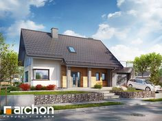 Dom w hostach Home Fashion, Cabin, Mansions, House Styles, Home Decor, Decoration Home, Manor Houses, Room Decor, Cabins