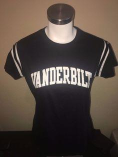 Vanderbilt Commodores Football Jersey Style T Shirt Womens Size Large L #Champion #VanderbiltCommodores