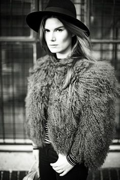 sheep fur, Saint Laurent Hat, frontrow, intodust, viktoria reier