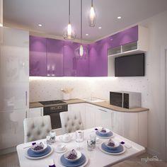 Кухня площадью 10 м.кв. в двухкомнатной квартире г. Химки