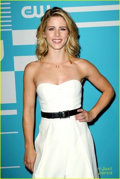 Emily Bett Rickards at CW Network's 2015 Upfront