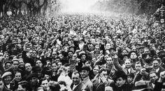 Spain - 1936. - GC - Madrid - Miles de republicanos se manifiestan en Madrid contra el golpe de Estado