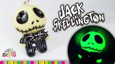 Jack Skellington Polymer Clay Tutorial / Jack Skeleton de Arcilla Polimé...