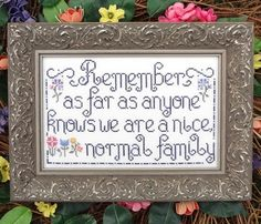 Normal Family - Cross Stitch Pattern