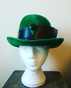 A personal favourite from my Etsy shop https://www.etsy.com/uk/listing/490958465/vintage-green-hat-vintage-designer-hat