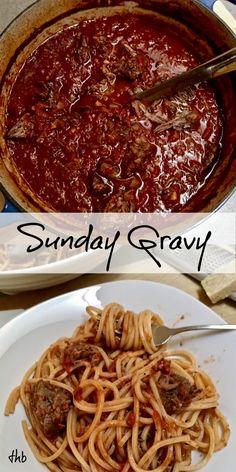 Meaty Sauce for Pasta ~ Sunday Dinner