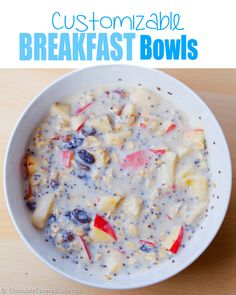 With this one recipe, you get endless breakfast options - healthy & filling, and you can easily change up the flavor by using different ingredients.. Full recipe here: http://chocolatecoveredkatie.com/2015/02/26/swiss-muesli-recipe/