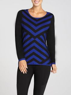 Long sleeve. Scoop neck. Multi-stripe pattern with contrast sleeves. Pull-on style. Imported....3030339-0718
