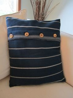 I love making pillows with cording, but for those times when I don't have quite enough fabric to make what I need, this gives a knife-edge pillow a bit of interest. Lovely, like everything else made by piping & pleats!