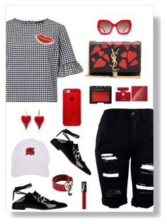 """""""Untitled #1893"""" by ebramos ❤ liked on Polyvore featuring Miss Selfridge, Givenchy, Alice + Olivia, Yves Saint Laurent, Alexander McQueen, Georgia Perry, Armitage Avenue, NARS Cosmetics and Dolce&Gabbana"""