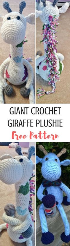 make a giant giraffe plushie with this easy tutorial! Perfect for beginners and the best toy for littles to cuddle! Get the free giraffe pattern here!