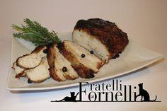 Salassi #Roast: Soft larded #chicken roast, flavored with #honey and aromatic mountain #herbs. #lard #Aosta #recipe #history - Fratelli ai Fornelli