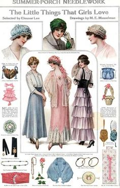 Vintage Labels magazine, ad, vintage, M. Costura Vintage, Moda Vintage, Vintage Outfits, Vintage Dresses, Historical Costume, Historical Clothing, Vintage Patterns, Vintage Prints, Edwardian Fashion