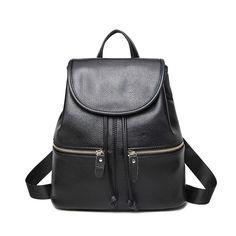Energetic Women Backpack For Teenage Girls Unisex School Bags Vintage Large Capacity Backpacks High Quality Pu Leather Brown Bag Backpacks