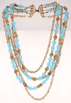 VINTAGE TRIFARI LADIES COSTUME JEWELLERY NECKLACE-ONE SIZE-USED-VERY GOOD CONDITION-VERY CHIC-FREE POSTAGE WORLDWIDE