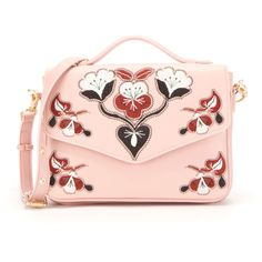 Cynthia Rowley Layla Crossbody Flap ($125) ❤ liked on Polyvore featuring bags, handbags, shoulder bags, pink handbags, crossbody purses, structured handbags, top handle handbags and faux leather crossbody