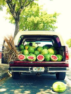 Watermelons for sale. A common sight down here.