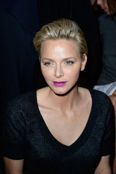Charlene Wittstock - PFW: Front Row at Louis Vuitton