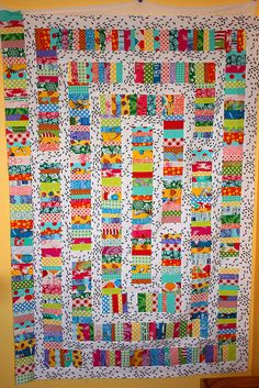 Fun Fabric Ant Farm Quilt in Progress by Riel -- The Q and the U, via Flickr