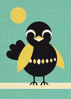 Naar wie stuur jij deze toffe ansichtkaart van Miss Honeybird?