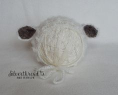 Sheep Hat Newborn Baby Hat Knit Newborn Hat by Silverthread15