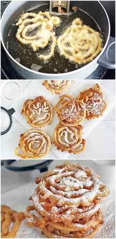 Mini Funnel Cakes... ok these look dangerous... but maybe once in a while for a treat