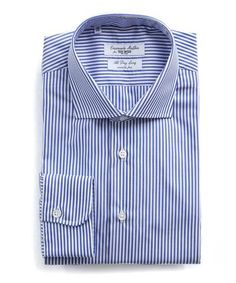 Eton Striped Dress Shirt Meticulous attention to detail distinguishes Eton as one of the worlds finest shirt makers This striped shirt can be dressed up or down to achieve a variety of looksExclusively TencelSpread collarLong sleeves miter Banker Stripes, Big And Tall Stores, Todd Snyder, Tailored Shirts, Shirt Maker, Mens Big And Tall, Striped Dress, Lacoste, Dresser