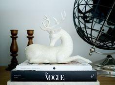 Love this glittered reindeer in the home of HGTV blogger @Erin B Loechner! P.S. His name is Edgar. #HGTVDesignHappens