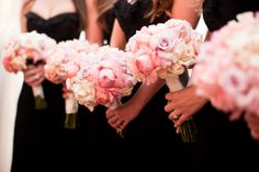Pretty pink bouquets! Photography by samuellippke.com / Floral Design by floralartla.com