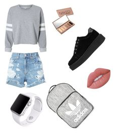"""Untitled #29"" by annialevine on Polyvore featuring rag & bone/JEAN, Topshop, Urban Decay, Lime Crime and Apple"