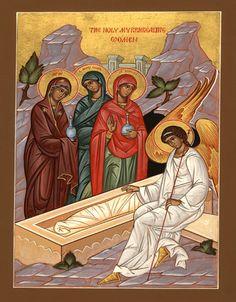 The Orthodox Faith - Volume II - Worship - The Church Year - Post-Easter Sundays Byzantine Icons, Byzantine Art, Religious Icons, Religious Art, Christ Is Risen, Orthodox Christianity, Holy Week, Catholic Art, Art Icon
