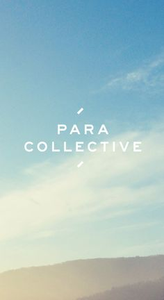 LEATHER GOODS / HAND MADE  www.paracollective.com