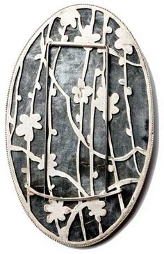 bettina speckner, cinderella   brooch back, 2010 photoetching in zinc, silver, diamonds 8 X 5 cm