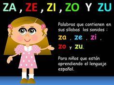 ZA , ZE , ZI , ZO Y ZU EN LAS PALABRAS - LECCIONES PARA NIÑOS - ESPAÑOL PARA TODOS - YouTube