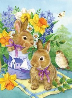 Toland Home Garden 102560 Bunny Bouquet Decorative House Flag, 28 by 40-Inch by Toland Home Garden, http://www.amazon.com/dp/B00B2J9KRW/ref=cm_sw_r_pi_dp_ODAlrb01JAT0C