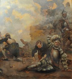 Ignatius wounded in battle while defending the Spanish fort of Pamplona against the French