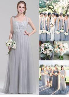 Elegant  silver bridesmaid dress. Your girls deserve to own it. #JJsHouse #JJsHouseBridesmaidDress