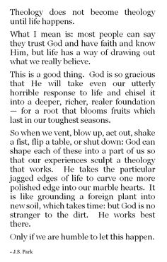 this is so so amazing - that God can take something horrible & shape it into something that glorifies Him. how powerful are the hands of Christ!