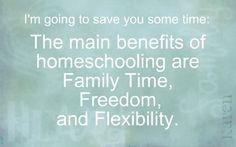 homeschool benefits by Karen