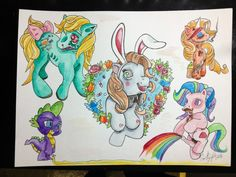 Cracked out My little pony tattoo flash by HerDyingBreathStudio, $45.00