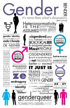 gender bender: ideas of gender not usually recognized by popular culture